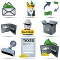 Accounting Icons Set 3 Stock Photo
