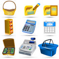 Accounting Icons Set 5 Stock Photos