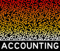 Accounting numbers concept with lots of Stock Photography