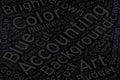 Accounting ,Word cloud art on blackboard