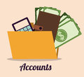 Accounts design over beige background vector illustration Royalty Free Stock Images