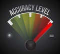 Accuracy level level measure meter from low to high concept illustration design Stock Photo