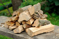 Accurate armful of firewood Royalty Free Stock Photo
