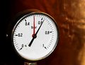 Accurate pressure gauge for measuring pressure in the airtight container Stock Photography