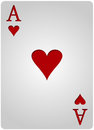 Ace card hearts poker