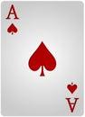 Ace card spades poker