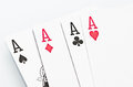 Ace cards isolated on a white background Stock Photo