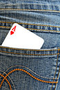 Ace of hearts Stock Photo