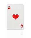 Ace of hearts with clipping path Royalty Free Stock Photo