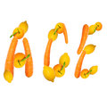 ACE Letter of Fruits Royalty Free Stock Photo