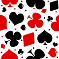Ace seamless pattern Royalty Free Stock Photo