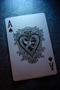 Ace of spades close up card Royalty Free Stock Photography