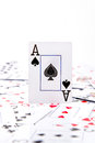 An ace of spades Royalty Free Stock Photo