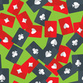 Aces playing cards seamless pattern Royalty Free Stock Photo