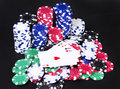 Aces poker lucky hand Royalty Free Stock Images