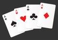 Aces suit cards hearts clubs spades diamonds icon