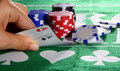Aces In Texas Hold'Em Royalty Free Stock Photo