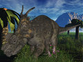 Achelousaurus - 3D Dinosaur Stock Photo