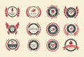 Achievement badges for games or applications two shades of color Royalty Free Stock Image