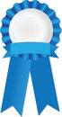 Achievement ribbon blue symbolizing or success Stock Photography