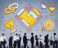 Achievement Success Teamwork Partnership Concept Royalty Free Stock Photo