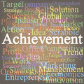 Achievement tag cloud Stock Photos