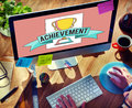Achievement Trophy Cup Success Graphic Concept Royalty Free Stock Photo