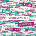 Achievement word cloud concept illustration wordcloud collage Royalty Free Stock Photos