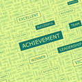 Achievement word cloud illustration tag cloud concept collage Royalty Free Stock Photo