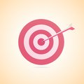 Achieving goal illustration darts strike red yellow Royalty Free Stock Photography