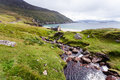 Achill ireland view at keem beach beautiful landscape with mountains and ocean Stock Image