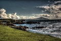 Achill island oileán acla in county mayo is the largest off the west coast of ireland is attached to the mainland Royalty Free Stock Image