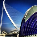 Achitecture valencia lines bleu bridge art Royalty Free Stock Images