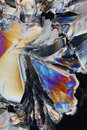 Acid Crystals Background Royalty Free Stock Photos