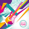 Acid funk background. Royalty Free Stock Photo