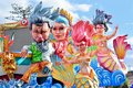 Allegorical float depicting various fantasy characters Royalty Free Stock Photo