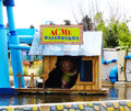 Acme waterworks warner park madrid at cartoon village area parque is a theme located km southeast of Stock Photos
