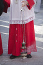 Acolyte supports censer in a procession of holy week spain Royalty Free Stock Image