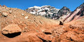Aconcagua the highest mountain in south america panorama of as seen from side mendoza argentina Royalty Free Stock Photo
