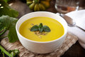 Acorn squash soup Royalty Free Stock Photo