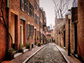 Acorn Street Stock Photography