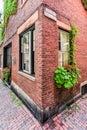 Acorn Street - Boston, Massachusetts Royalty Free Stock Photo