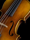 Acoustic Classical Violin body top view Stock Photography