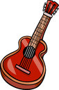 Acoustic guitar cartoon clip art illustration of musical instrument Stock Images