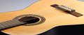 Acoustic guitar detail of a classic Stock Photo