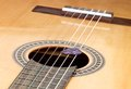 Acoustic guitar detail of a classic Royalty Free Stock Photos