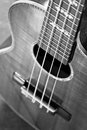 Acoustic guitar extremely shallow dof part of traditional Royalty Free Stock Photography