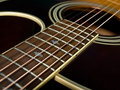 Acoustic guitar fretboard Royalty Free Stock Photo