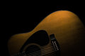 Acoustic guitar painted with light Stock Photo