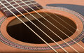 Acoustic guitar a picture of an suitable for music concepts Royalty Free Stock Image
